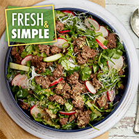 Sweet Chile & Beef Salad with Rice Noodles recipe