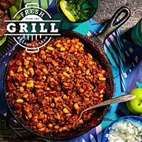 Grilled Beef & Baked Beans recipe
